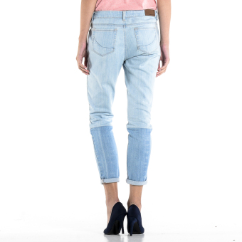 PENSHOPPE Two-toned Cigarette Fit Jeans (Faded Denim) - 3