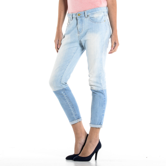 PENSHOPPE Two-toned Cigarette Fit Jeans (Faded Denim) - 2