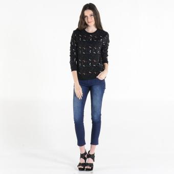 PENSHOPPE Women's Printed Pullover (Black) - 4