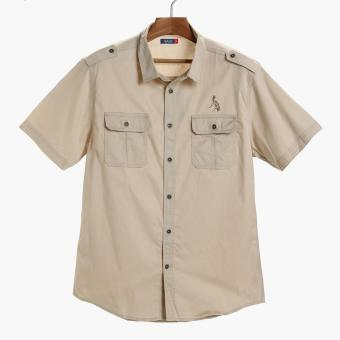 PH Basic By Kultura Mens Twill Casual Shirt (Khaki)