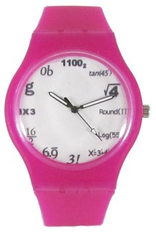 PIC Equation Unisex Pink Silicone Strap Watch