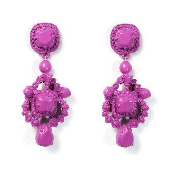 Pink Tequila B8-106 Statement Earrings (Purple)