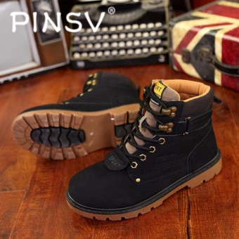 PINSV Men Fashion Casual Boots(Black) (Intl)