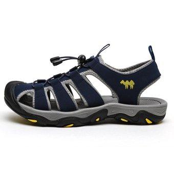 PINSV Men Outdoor Sporty Slipper Sandals Shoes (Navy Blue) - intl - 3