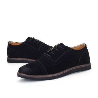PINSV Men's Formal Shoes Casual Business Leather Shoes (Black) - 3
