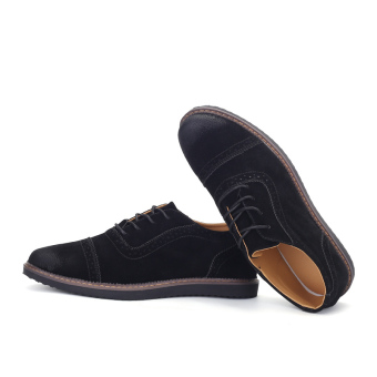 PINSV Men's Formal Shoes Casual Business Leather Shoes (Black) - 4