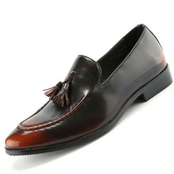 PINSV Mens Tassel Formal Shoes Loafers Business Shoes (Brown) - Intl
