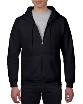 Plain Hoodie Jacket Fleece Black w/ zipper