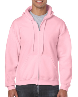 Plain Hoodie Jacket Fleece Light Pink w/ zipper