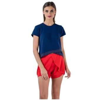 Plains & Prints Jonae Short Sleeves Top (Navy)