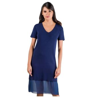 Plains & Prints Marco Short Sleeves Dress (Navy)