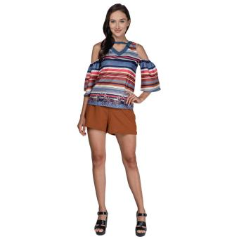 Plains and Prints Pillar Short Sleeves Top (Multi) - 5