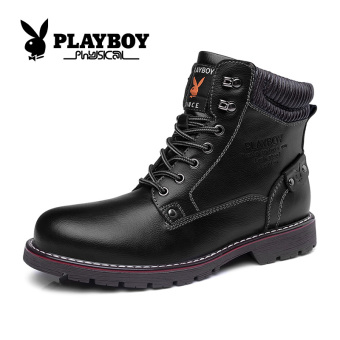 PLAYBOY British hight-top tooling shoes Dr. Martens (Men's + 37131 black)