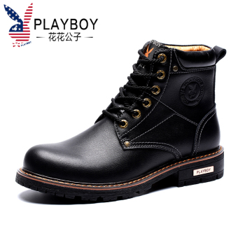 PLAYBOY British men's hight-top boots Dr. Martens (Up to ke si casual CX39363 black)