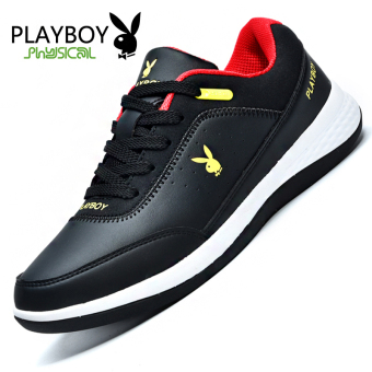 PLAYBOY Korean-style men breathable shoes men's shoes (55084 black)
