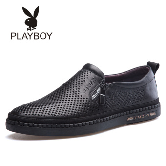 PLAYBOY leather men's porous breathable casual shoes men's sandals