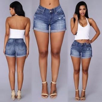 plus size summer denim shorts jeans - intl | lazada ph