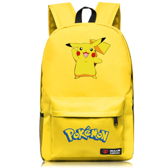 Pocket Monster ghost pet small elf backpack school bag (Yellow Wave)
