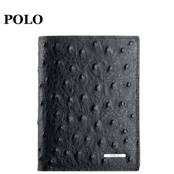 Polo leather ostrich pattern youth wallet men's wallet
