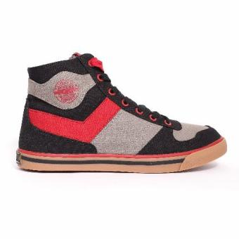 PONY MEN'S STREET ARCHIVE - ARENA HIGH (CHARCOAL FREY/JESTER RED) Price Philippines