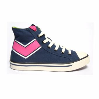 PONY WOMEN'S CANVAS - SHOOTER HIGH (DARK DENIM/FANDANGO PINK)