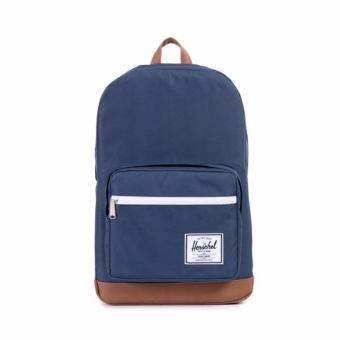 POP QUIZ BACKPACK 22L 100% AUTHENTIC NAVY/TAN LITTLE AMERICA