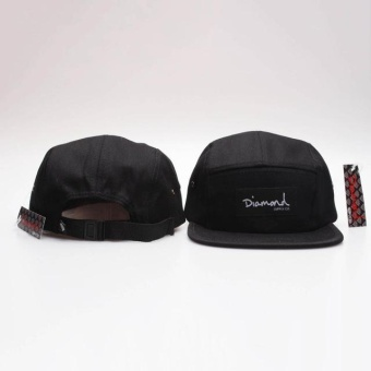 Popular &Fashion Design 20 Style Five 5 panel diamond snapback caps hip hop cap flat hat hats for men (Black) - intl