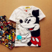 Popular brand cartoon cotton printed short sleeved men and women (Thumb Mickey does not contains shorts) (Thumb Mickey does not contains shorts)