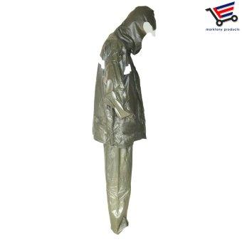 Popular Man Woman Water Proof Rain Coat in Army Green - 2