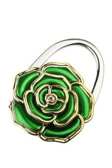 Portable Folding Handbag Rose Hook Hanger Holder (Green)