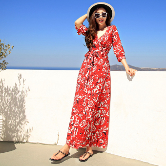 Posey Mia female floral Slimming effect dress Dress