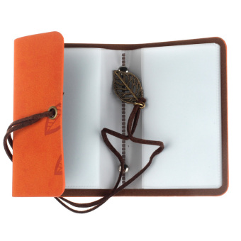 Practical Leather Business Credit ID Card Holder Orange - picture 2