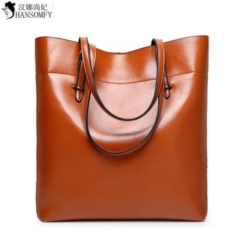 Premium Quality Female Tote Bag Series--New Best New High QualityLeather Women Shoulder Bag Fashion Brand Designer Bucket Bag LargeCapacity Top-handle Bags Tote Bag (Brown) - intl