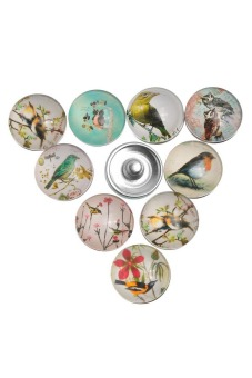 Press Buttons 5.5mm Fit DIY Snap Bracelets 18mm Flying Bird Mixed - picture 2