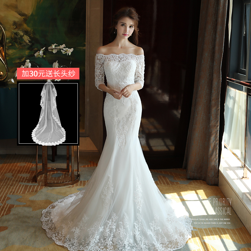 Philippines | Princess New style bride slimming wedding veil dress ...