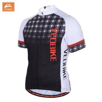 Pro Bicycle Wear MTB Short Sleeve Cycling Clothing CyclingSets(Black) - intl - 5
