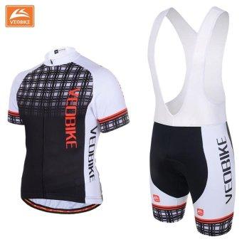 Pro Bicycle Wear MTB Short Sleeve Cycling Clothing CyclingSets(Black) - intl - 2
