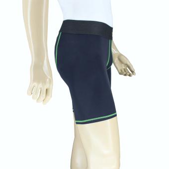 PROCARE COMBAT #8417G  Compression Men Shorts with back PhoneZip Pocket (Blk/Green) - 3