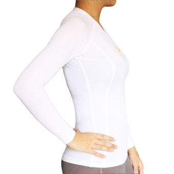 PROCARE COMBAT #9204 Dri-Quik Ladies Compression Long Sleeves for Yoga Zumba Jogging Running (White) - 2