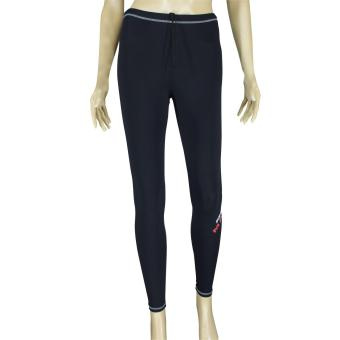 PROCARE MARINE #9651 Dri-Quik Ladies Swimming Long Pants WetsuitPants, Drawstring for Diving Surfing Snorkeling (Black)