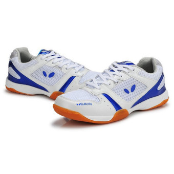 Professional Men Tennis Shoes Badminton Sneakers(Blue) intl - 4