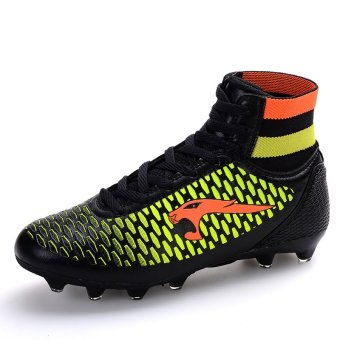 Professional Soccer Shoes High Spike Football Shoes Athletic Training Shoes Black