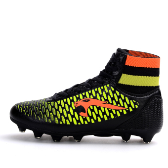 Professional Soccer Shoes High Spike Football Shoes Athletic Training Shoes Black - 4
