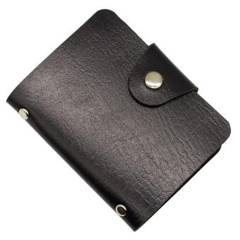 PU Leather 12 Slot ID Credit Cards Holder Pocket Wallets - intl - 2