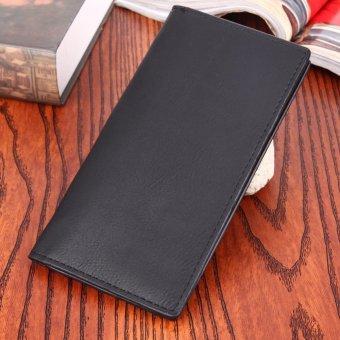 PU Leather Men Long Ultrathin Wallet Card Phone Holder PureClutch(Black) - intl - 2