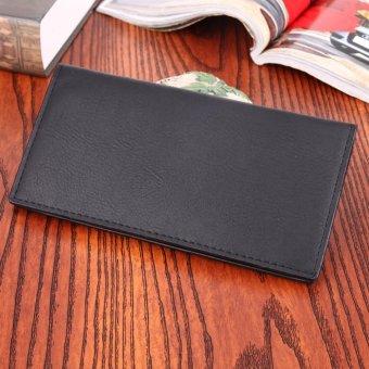 PU Leather Men Long Ultrathin Wallet Card Phone Holder PureClutch(Black) - intl - 4