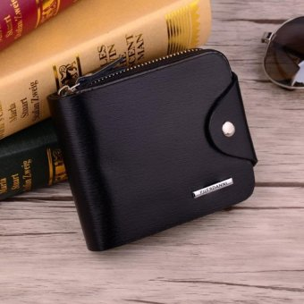 PU Leather Men Zipper Wallets Mens Leather Wallet with Coin Purse - intl