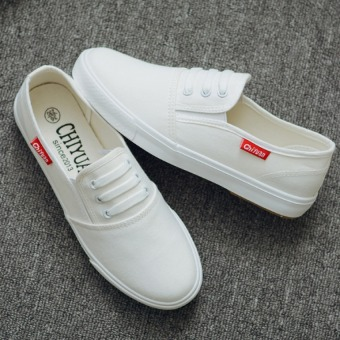 Pudding Female canvas flat leisure white shoes - Intl