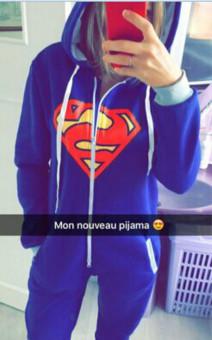 Pyjamas Adult Pajamas Onesie Batman Superman Zip One PieceSleepsuit Sleepwear - 4