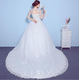 QQ Wedding dress wedding band thin slim White - intl - 3